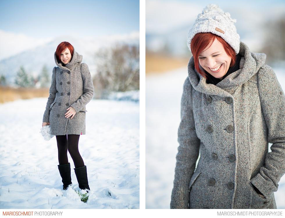 Portraits im Schnee zwischen Offenburg und Zell-Weierbach, Simone (1)