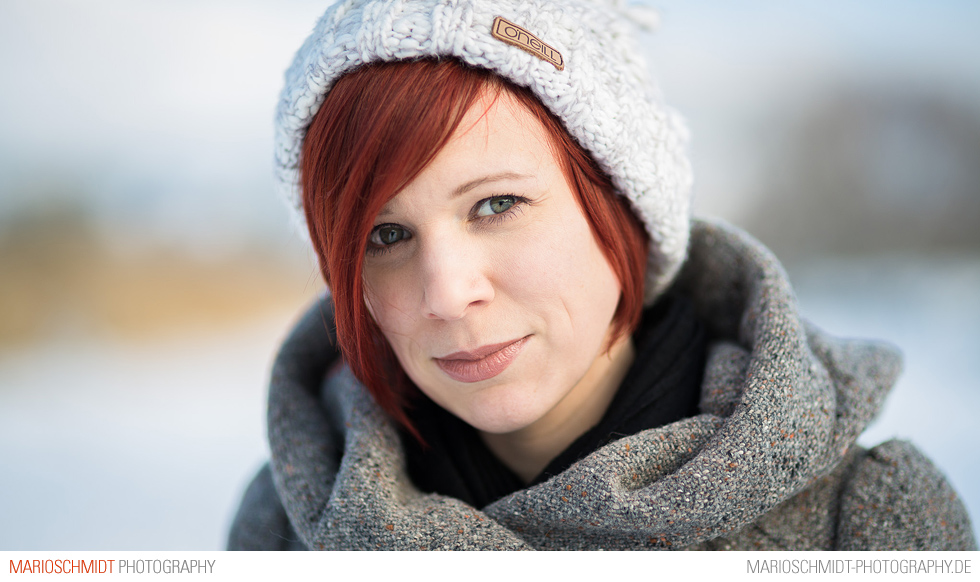 Portraits im Schnee zwischen Offenburg und Zell-Weierbach, Simone (2)