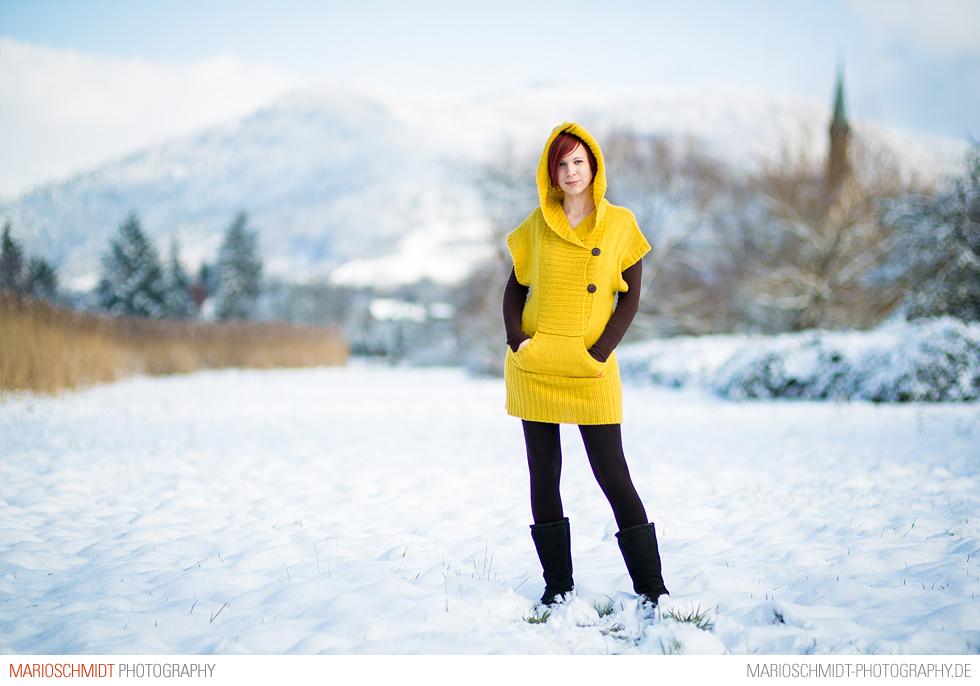 Portraits im Schnee zwischen Offenburg und Zell-Weierbach, Simone (4)
