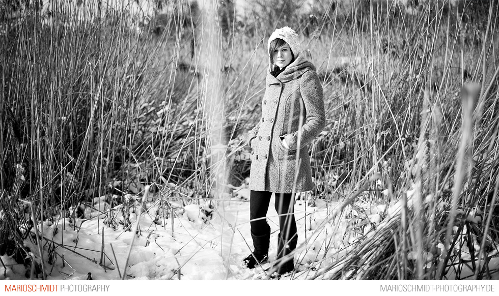 Portraits im Schnee zwischen Offenburg und Zell-Weierbach, Simone (7)