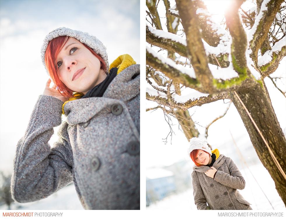 Portraits im Schnee zwischen Offenburg und Zell-Weierbach, Simone (8)