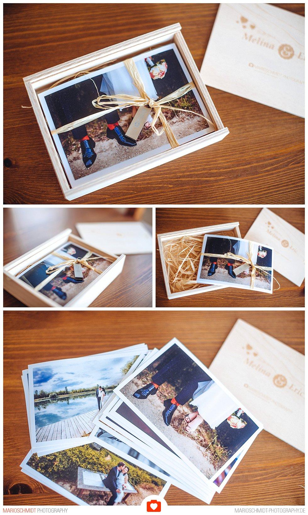 Geschenkbox zur Übergabe von Hochzeitsfotos (1)